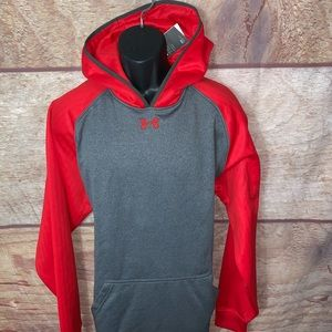 Under armour hoodie men's size xl red